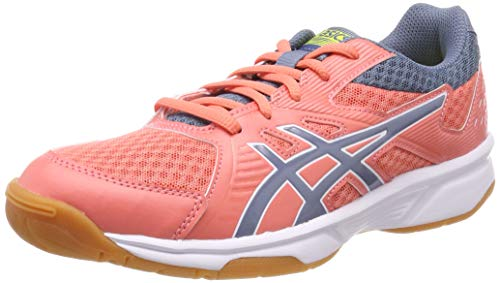 ASICS Damen Upcourt 3 Squashschuhe, Rot (Papaya/Steel Blue 702), 40.5 EU
