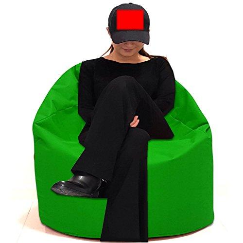 Sitzbag Sitzsack Größe S-M-L-XL-XXL-XXXL mit Styropor Füllung - In & Outdoor Größen - Bean Bag Sitzkissen Bodenkissen Hocker Kinder Sitzsäcke Möbel Kissen Sessel Sofa (XXXL - ca.88cm, Hellgrün)
