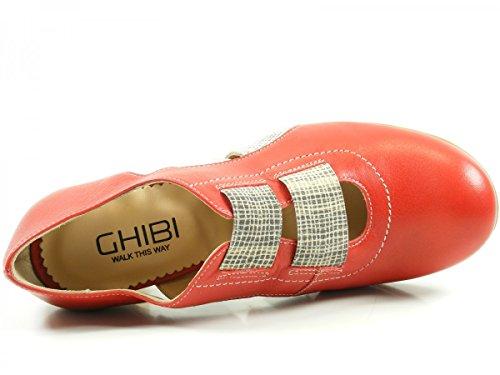 Ghibi A040 Scarpe Da Donna Rosso Pompe