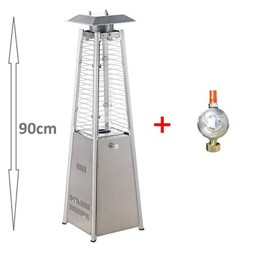 Heizstrahler Mini Tisch-Terrassenstrahler Pyramide Mini 3Kw (Edelstahl)