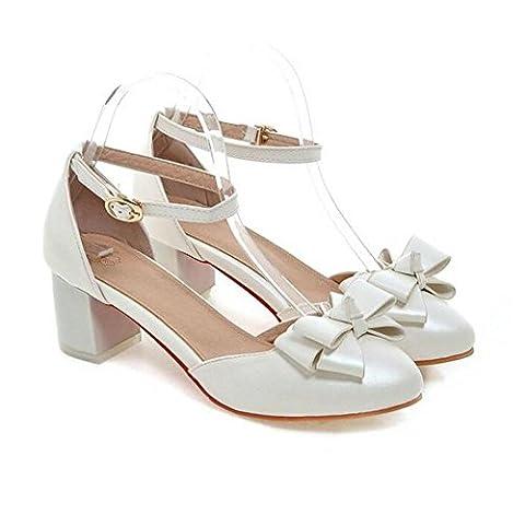 LDMB Chaussures à talon fermé pour femme , white , 37