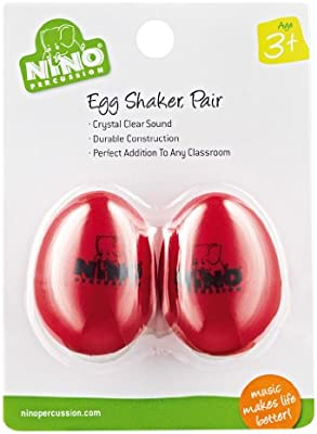 Nino Percussion NINO540R-2 - Shaker color rojo