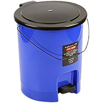 Sunshine Tidy Home Plastic Dustbin, 15 litres, Big, Dark Blue, Glass Finish