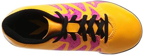 adidas Jungen X 15.4 Turf J Fußballschuhe, Weiß Orange / Schwarz / Pink (Dorsol / Negbas / Rosimp)