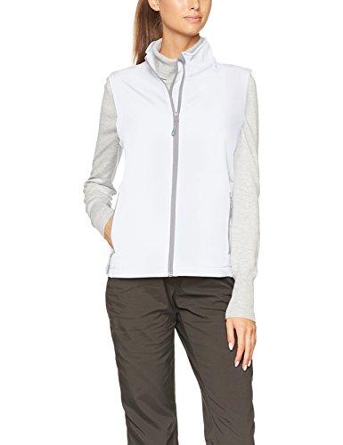 James & Nicholson Damen Outdoor Weste Ladies' Promo Softshell Vest, Weiß (White), 40 (Herstellergröße: XL)