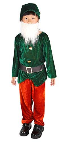 (Toyobuy Kindergeschichte Junge Cosplay Kostüm kleidung Sieben Zwergen-Kostüm 140 BilderH)