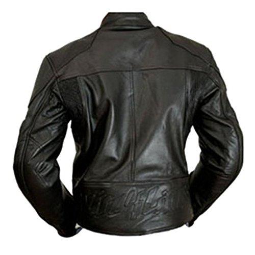 4LIMIT Sports Motorradjacke Leder Streetbandit Biker Rocker, Schwarz, Größe XL