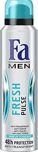 Fa Men Déodorant Fresh Pulse Tonifiant Aérosol 150 ml - Lot de 3