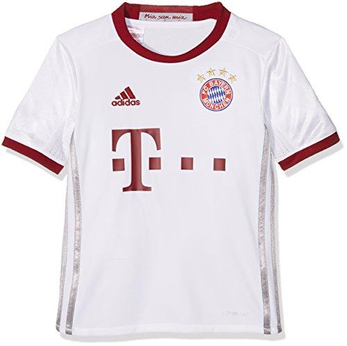 Kinder-spiel-fußball-trikot (Adidas Jungen FC Bayern München UCL Trikot, White/Light Onix/Collegiate Burgundy, 176)
