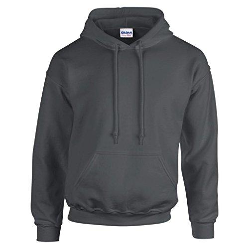 MAKZ Gildan Heavy Blend Kapuzen Sweatshirt, Grau - Dunkelgrau, XXL -