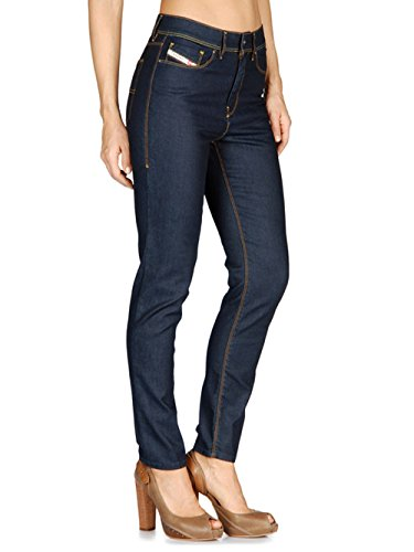 Diesel Highkee 0069H femmes Pantalons Jeans Slim droites Bleu
