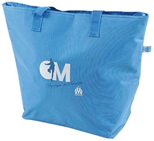 Olympique de marseille 5gla013om - borsa termica per la spesa, 36 x 14 x 46 cm, blu