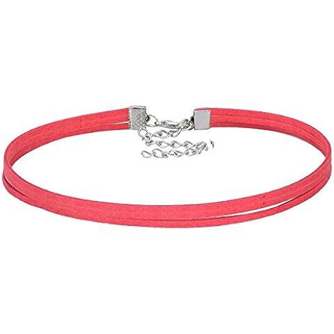 floweralight Multicolor cadena de piel Gargantilla Collar Gargantilla de piel Para Niñas A-Red
