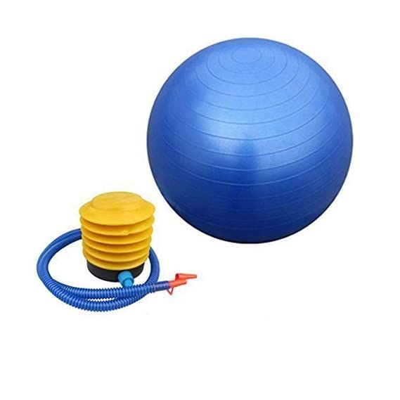 SOCHEP Inflatable Gym Ball with Foot Pump for Total Body Fitness, Abdominal Toner - Diameter 65Cm