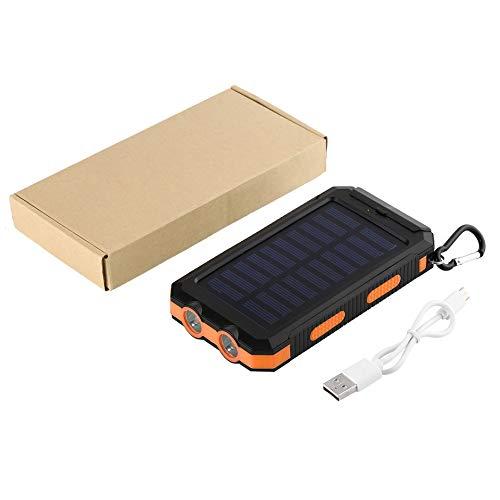 WEINANA 300000mAh Portable Dual USB Lightweight Waterproof Powerful LED Light Solar Power Bank External Battery Charger with Hook