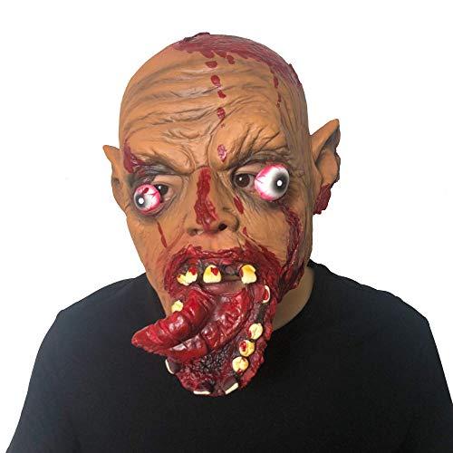 Latex Maske Halloween,Neuheit Lustig Horror Böse Faule Rote Zunge Clown Latex Maske, Unisex-Adult Für Halloween Kostüm Party Scary Kostüm Zubehör (Böser Clown Kostüm Zubehör)