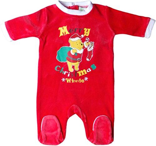 Disney Winnie the Pooh Pyjama / Schlafanzug / Strampler - Merry Christmas * Winnie * - Rot/Weiß (Christmas Pyjamas Disney)