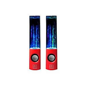 Great Value USB Water Fountain Dancing Speakers for Tablets - Red