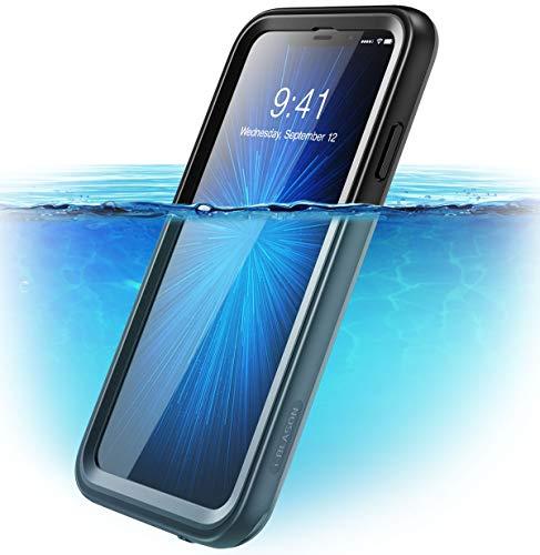 i-Blason Cover iPhone XS Max Subacquea, Custodia Impermeabile IP68 [Serie Aegis] Protezione a 360 Gradi(Anteriore e Posteriore) Waterproof Case per Apple iPhone XS Max 2018, Nero