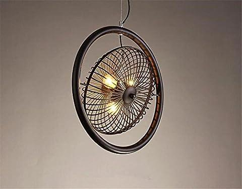 Lustre Suspension American Country Style lustre en fer forgé pendentif chambre salon luminaire Lustres