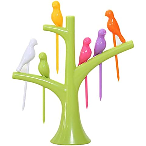 YING LAN Decorative 6pcs Bird Shape Lunch