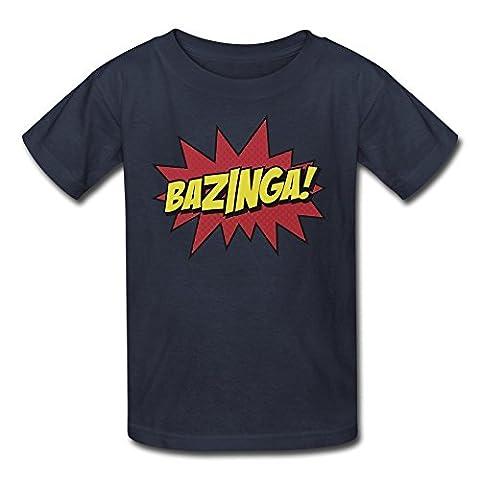 Kid's The Big Bang Theory Bazinga Cotton Tee Shirts