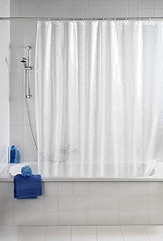 WENKO 21272100 Duschvorhang Stamp - 3D Effekt, Kunststoff - PEVA, Transparent