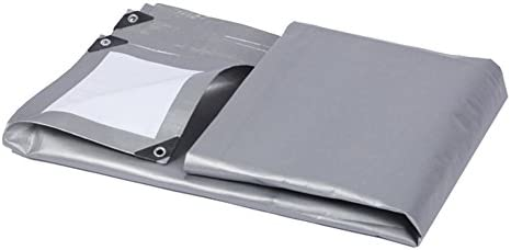 Telone, telone esterno per camion resistente alla alla alla polvere e antivento, a tenuta di polvere e isolamento termico, grigio + bianco (Coloreee   A, dimensioni   3 x 4m) | Più pratico  | Prezzo speciale  031d25