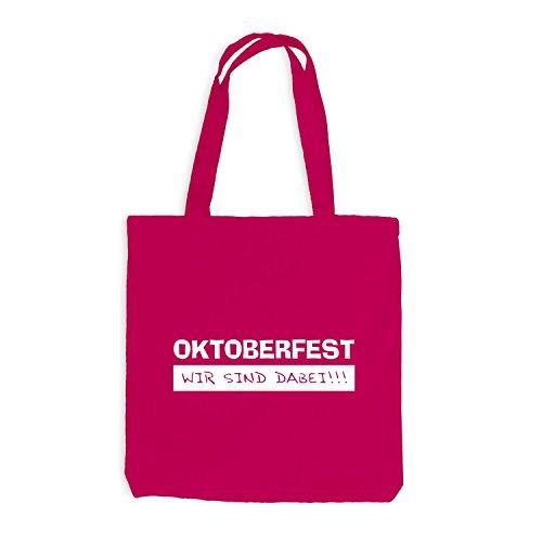 Jutebeutel - Oktoberfest - Wir sind dabei - Wiesn Party Pink