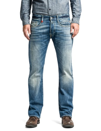 Replay Herren Boot-Cut Jeans Billstrong, Blau (Blue Denim), 30W / 34L (Rise Classic Bootcut)