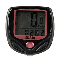 15 Function Bicycle Computer Odometer Speedometer Digital LCD Bike Meter Waterproof