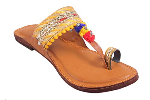 Great Art Kolhapuri Sandal Fashionable Smart Casua...