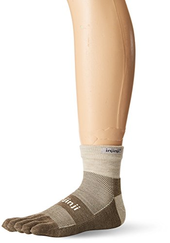 Injinji 2.0Outdoor Midweight Mini Crew nuwwol Socken Größe L Hellbeige