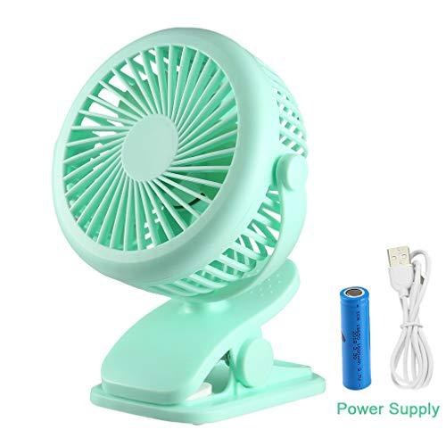 Cozime Ventilador USB, Mini Ventilador Silencioso Pequeño Ajustable 360° Tres Velocidades de...