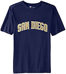 MLB San Diego Padres Men's Synth Mass Workmark Tee, Navy, Medium