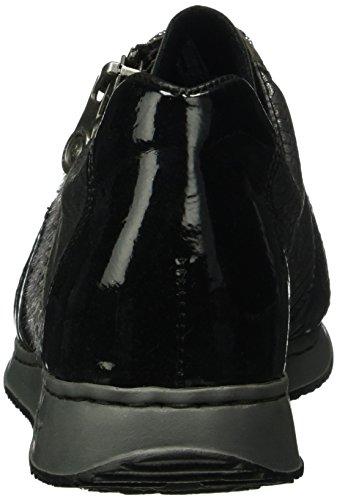 Rieker 56001, Baskets Basses Athlétiques Pour Femme Gris (smoke / Schwarz / Granit / Grau / 45)