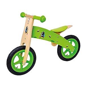 BINO 13749 - Bicicleta correpasillos, diseo con Topos, Color Verde