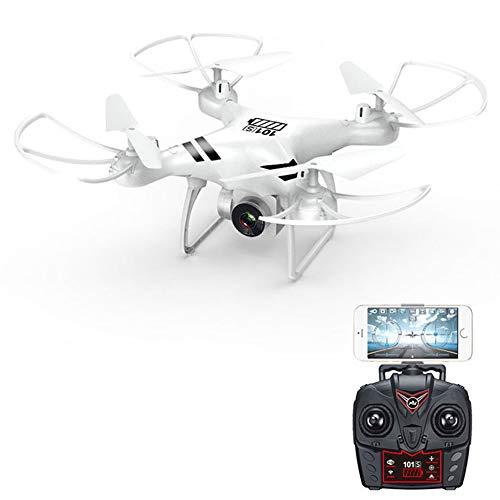 TONGHUA-Drohne Mit Kamera-Live-Übertragung, 1080P HD-Weitwinkelkamera Mit 120 °, FPV-Quadrocopter Mit WLAN, Start/Landung Mit Einer Taste, Headless-Modus,White -
