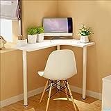 Desk Xiaolin Computertisch Ecktisch Esstisch Kleine Wohnung Eck Schreibtisch Schreibtisch (Farbe : Weiß)