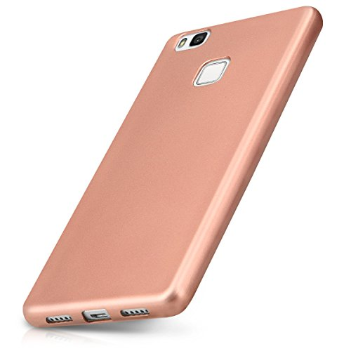 kwmobile Huawei P9 Lite Hülle - Handyhülle für Huawei P9 Lite - Handy Case in Metallic Rosegold