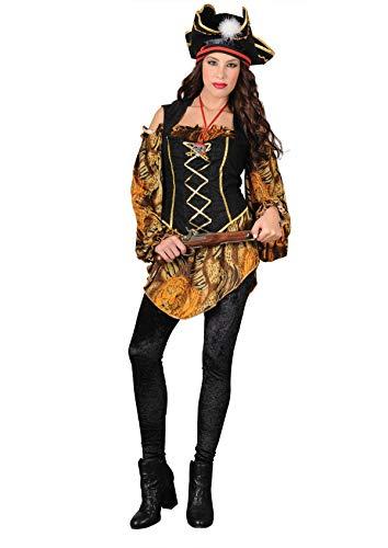 Aus Der Fluch Karibik Elizabeth Kostüm - Unbekannt Stamco, Piratenkapitän, Sieben Meere, Piratenkostüm für Damen