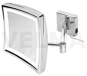 Velma square led220 5x esclusivo specchio cosmetico for Amazon specchi da parete