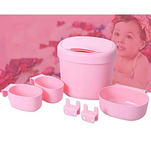 Baby Windel Caddy Windeltisch Lagerung Massagewanne Ablagekorb Aufbewahrungskorb Aufbewahrungsbox 6-teiliges Set,Pink - Babybetten Und Wickeltische