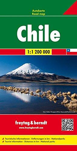 Chile, mapa de carreteras. Escala 1:1.200.000 Freytag & Berndt (Auto karte) por VV.AA.