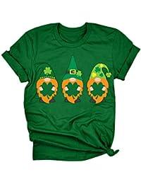 Mujer Camiseta Holgada con Estampado,Camiseta Estampada De Manga Corta con Cuello En O De St. Patrick\'s Day para Mujer Blusa Túnica Tops Camiseta Mujer Camiseta Mujer Casual A62