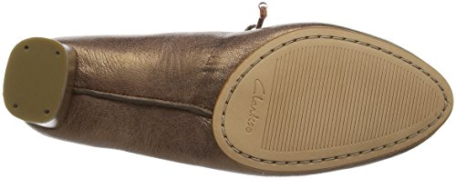 Clarks Grace Isla, Escarpins Femme Gris (Bronze Leather)
