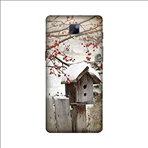 Yashas High Quality Designer Printed Case & Cover for Oneplus 3/ 3T ( bird houses in the snow)
