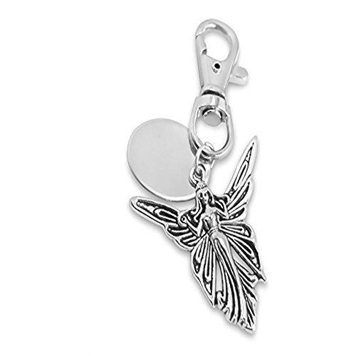 Plaque de porte personnalisée avec porte-clés en forme d'ange avec pochette cadeau-PL124