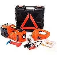 BELEY Kit de cric hydraulique électrique 12 V 5 tonnes avec clé à Choc électrique pour Pneu, gonfleur de Pneu 3 en 1 pour réparation d'Urgence routière