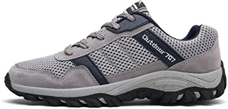 ZHANGRONG Herrenschuhe Sommer Komfort Sandalen Schnalle für Büro  Karriere Outdoor Schwarz  weissszlig ( Farbe :